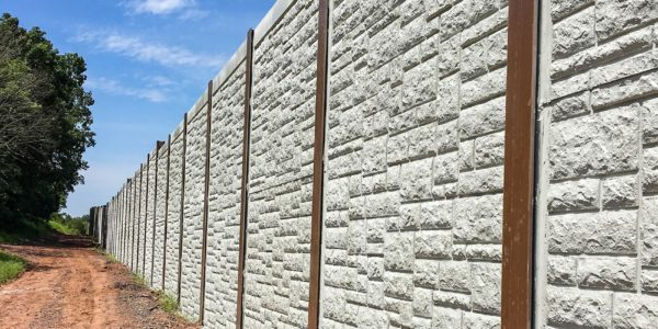 Noise wall on the Northeast Extension Project