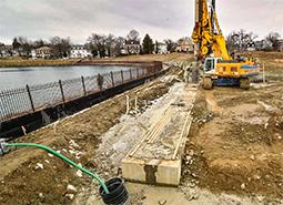 Secant wall construction